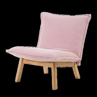Fotel Nicole różowy