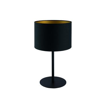 Lampa stołowa z abażurem Alice czarna ze złotym wnętrzem 9091