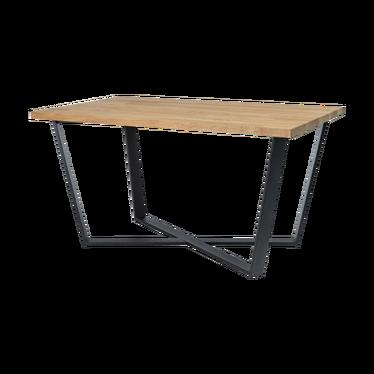Stół Selfoss 150x90 cm z litego drewna dębowego