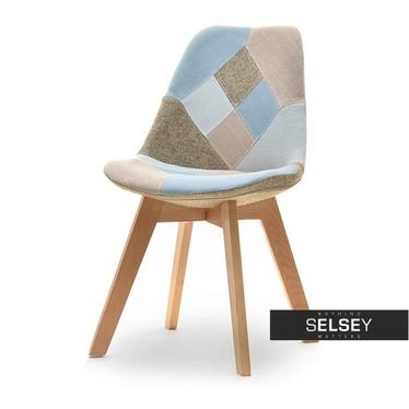 Krzesło Luis wood patchwork na bukowej podstawie