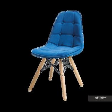 Krzesło Rovej granatowe aksamitne