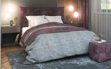 Łóżko kontynentalne Culla w tkaninie Salvador 05 160/200