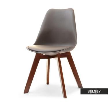 Krzesło Luis wood brązowy-orzech