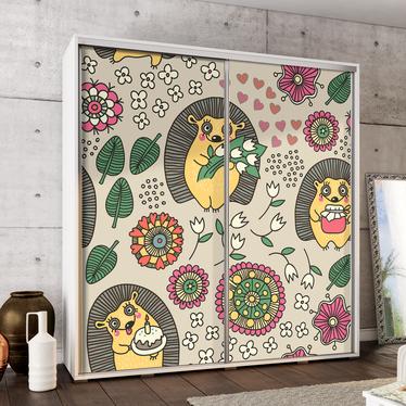 Szafa Wenecja 205 cm Kolorowe jeże