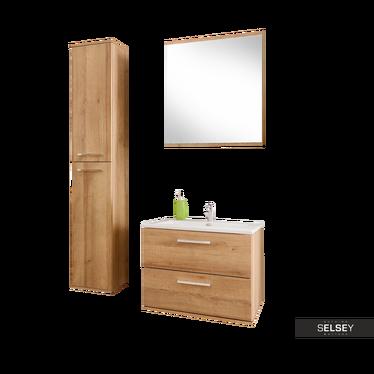Zestaw mebli łazienkowych Austin z lustrem