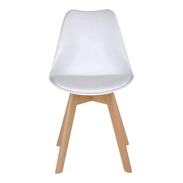 Zestaw dwóch krzeseł Caddelm białe