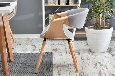Krzesło tapicerowane Bent dąb - szary