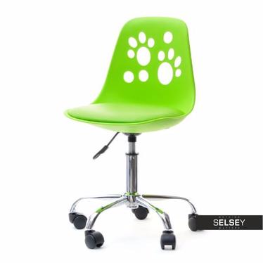 Designerskie krzesło obrotowe do biurka dla dzieci FOOT zielone