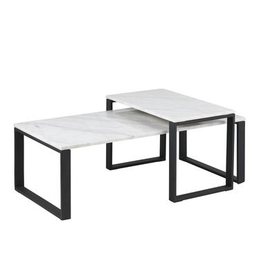 Zestaw dwóch stolików kawowych Banjole 115x60 cm i 69x40 cm