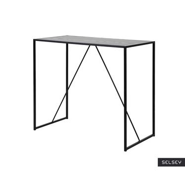 Stół barowy Krapina 120x60 cm szary