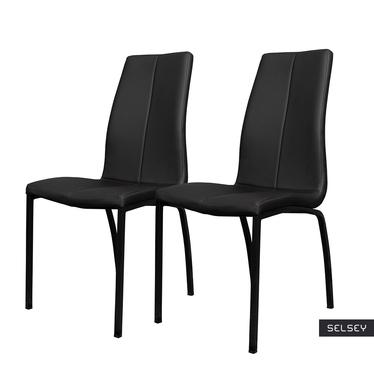 Zestaw dwóch krzeseł tapicerowanych Zagorac czarne