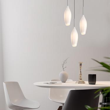 Lampa wisząca Natty biała x3 kaskada
