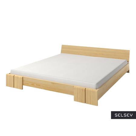 Łóżko Loke z drewna sosnowego niskie