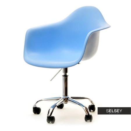 Fotel biurowy MPA move niebieski na kółkach