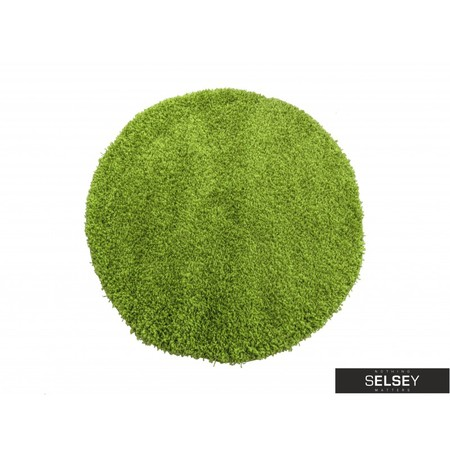 Dywan Shaggy okrągły zielony