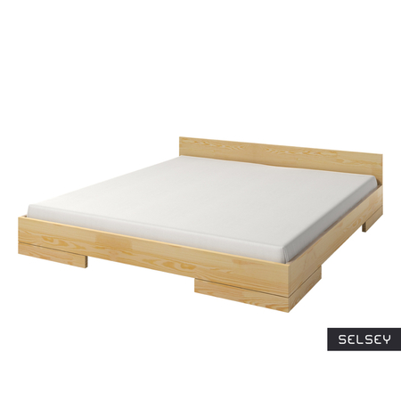 Łóżko Halsa z drewna sosnowego niskie