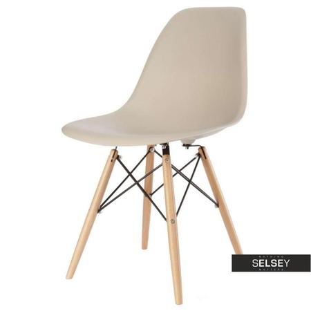 Krzesło Basic beżowe buk
