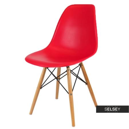 Krzesło Basic czerwone buk