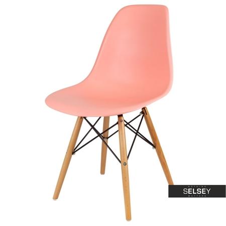 Krzesło Basic łososiowe buk