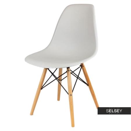Krzesło Basic jasnoszare buk