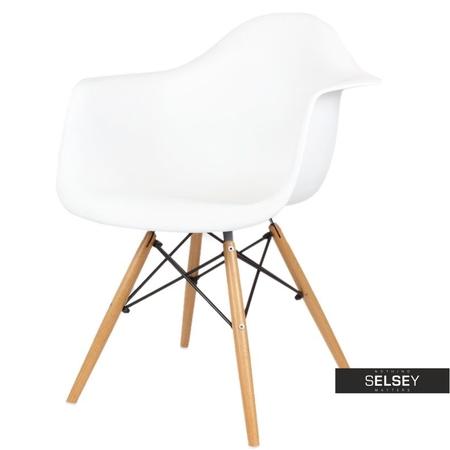 Krzesło Simple białe buk