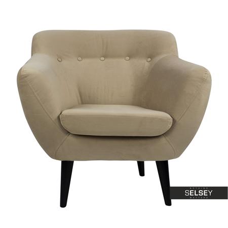 Fotel Tajpej beżowy