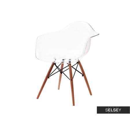 Krzesło MPA wood transparentne z podłokietnikami