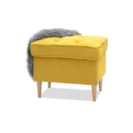 Podnóżek Malmo żółty w nowoczesnym stylu