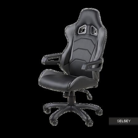 Fotel biurowy Sara czarno - szary