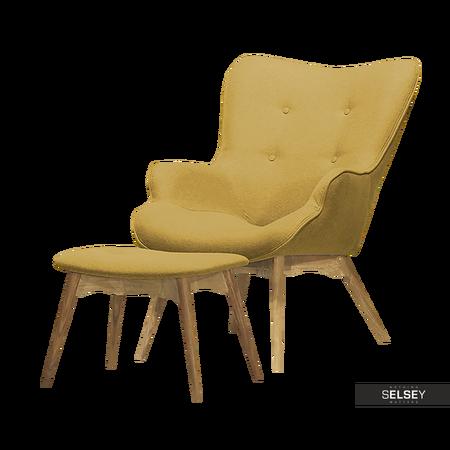 Fotel Blomster z podnóżkiem