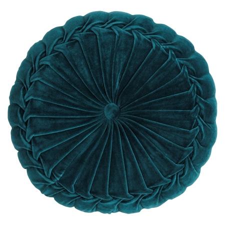 Poduszka z poszewką Kanan Velvet turkusowa 40x10cm