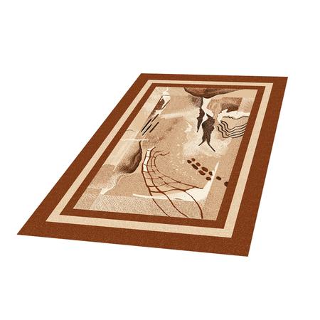 Dywan Basal Abstrakcja 8 brązowy