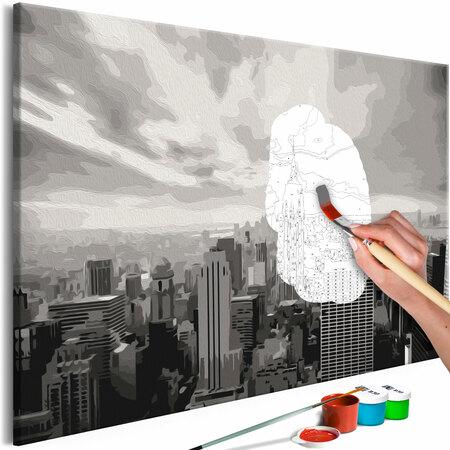 Obraz do samodzielnego malowania Szary Nowy Jork