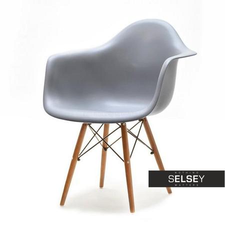 Krzesło MPA wood szare - orzech