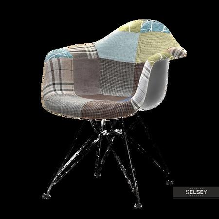 Krzesło MPA rod tap patchwork 3 - czarny