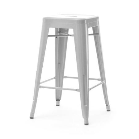 Hoker Alfredo stool 2 szary z metalu