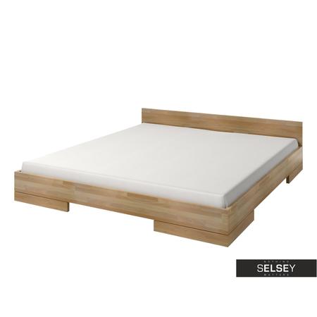 Łóżko Halsa z drewna bukowego niskie