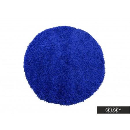 Dywan Shaggy okrągły kobaltowy