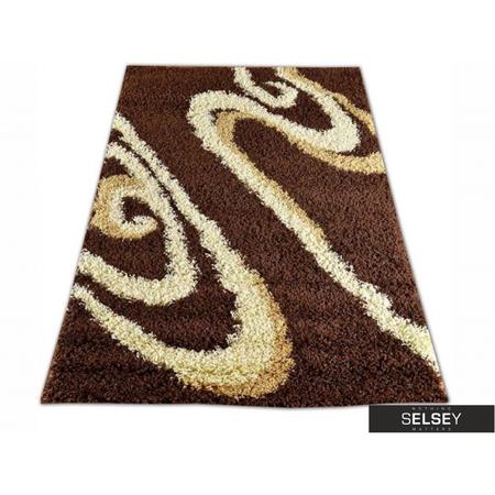 Dywany Shaggy Zawijasy brązowy