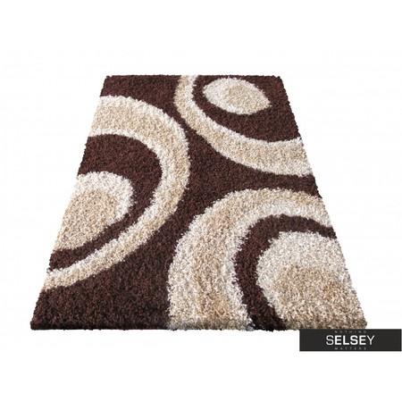 Dywany Shaggy Circles brązowy