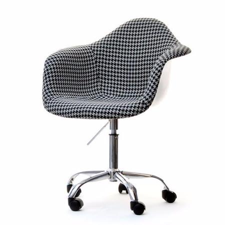 Fotel biurowy MPA move pepitka obrotowy tapicerowany