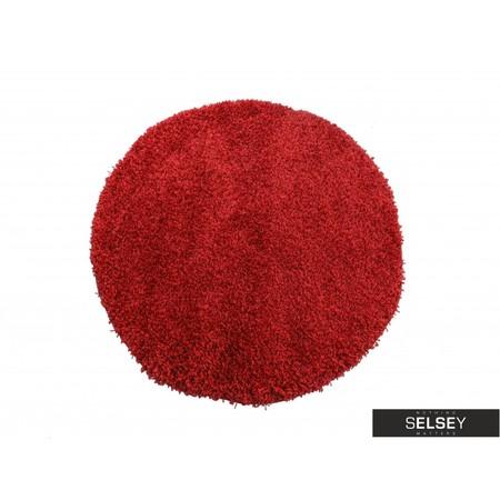 Dywan Shaggy okrągły czerwony