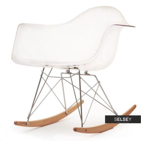 Fotel bujany MPA ROC transparentny bujak z tworzywa