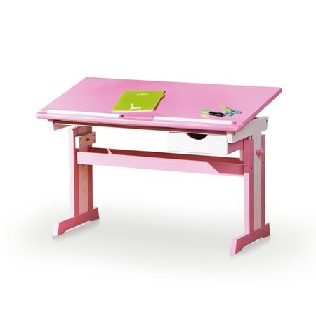Biurko Okisora różowe to tradycyjny wygląd w nowoczesnej