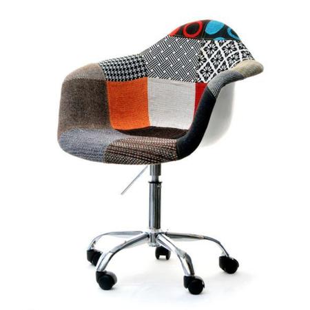 Fotel biurowy MPA move patchwork z podłokietnikami