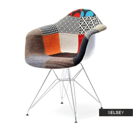 Krzesło MPA rod tap patchwork na stalowych nogach
