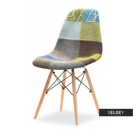 Krzesło MPC wood tap patchwork 3 na bukowej podstawie