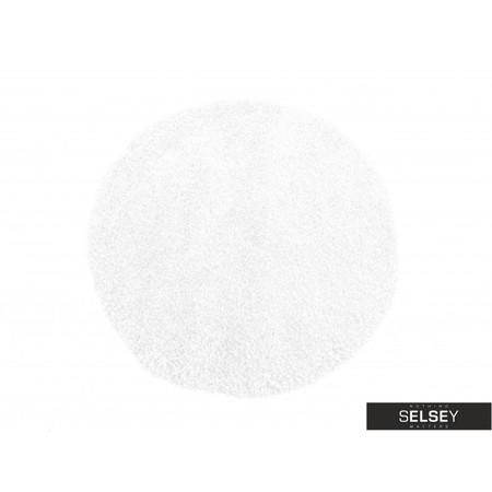Dywan Shaggy okrągły biały