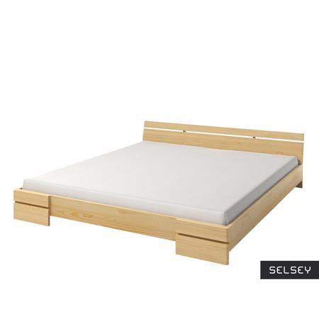 Łóżko Lopar z drewna sosnowego niskie