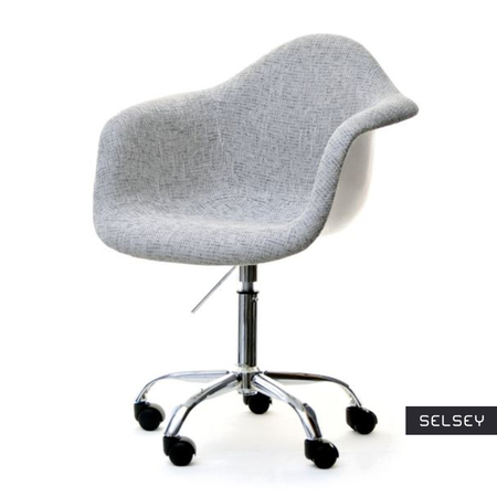 Fotel biurowy MPA move tap szary z białymi plecami na kółkach